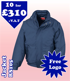 10 - RS105 Jacket S-2XL with YOUR LOGO £310