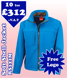 10 - RS121M Soft Shell S-4XL with YOUR LOGO £312