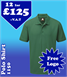 12 - 1150 Polo Shirts with YOUR LOGO £125 + VAT