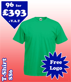 96 - SS6 T-Shirt XS-2XL with YOUR LOGO £393