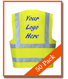 Bundle Pack 50 Hi-Viz Vests - £6.10 each