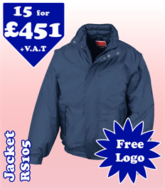 15 - RS105 Jacket S-2XL with YOUR LOGO £451