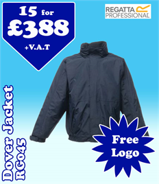 15 - RG045 Regatta Dover Jacket with YOUR LOGO- £388
