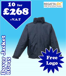 10 - RG045 Regatta Dover Jacket with YOUR LOGO- £268