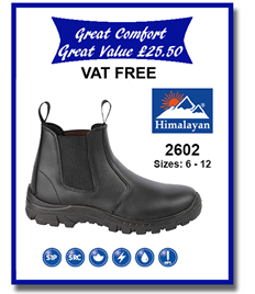2602 - Safety Pull On Dealer Boot with Steel Toe Cap and Midsole