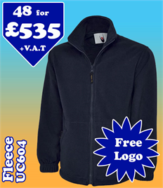 48 - UC604 Fleece XS-2XL with YOUR LOGO £535
