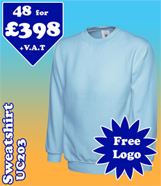 48- UC203 Sweatshirt XS-2XL with YOUR LOGO £398