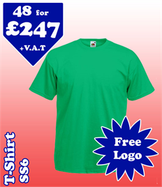 48- SS6 T-Shirt XS-2XL with YOUR LOGO £247