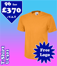 96 - UC301 T-Shirt XS-2XL with YOUR LOGO £370