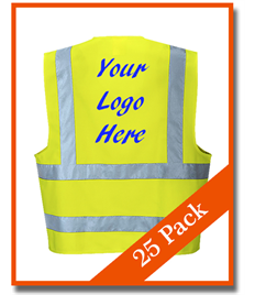Bundle Pack 25 Hi-Viz Vests - £6.40 each
