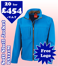 20 - RS121M Soft Shell S-4XL with YOUR LOGO £454