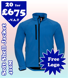 20 - 410M Soft Shell XS-4XL with YOUR LOGO £675